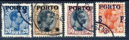 ##C2712. Denmark 1921. Postage Due. Michel 6-8. Cancelled(o). Observe Perforation Of 50 øre! - Port Dû (Taxe)