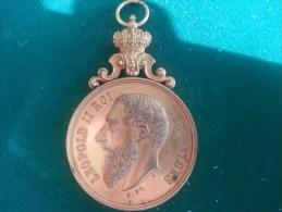 Ass. Roy. Des Ex-Sous-Officiers De L'Armee Anvers, 21/8/1887, 8e Reg. De Ligne (H. Ft.), 53 Gram (medailles0076) - Belgien