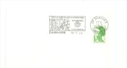 EURE Et LOIR - Dépt N° 28 = DAMMARIE 1989 = FLAMME Type II = SECAP Illustrée + CHARRETTE ' Commerces 8e Exposition ATP' - Oblitérations Mécaniques (flammes)
