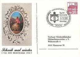 PP 106/95b   Schreib Mal Wieder - Tag Der Briefmarke 1982, Hannover 1 - Privatpostkarten - Gebraucht