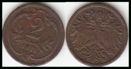 AUSTRIA 2 Heller 1911 Franz Joseph I KM#2801 - Used - Austria