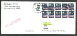 USA Cover With Several Stamps  To ESTONIA Estland Estonie 2014 - 2011-...