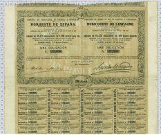 Cie Du Chemin De Fer De Palencia à Ponferrada, Nord Ouest De L'Espagne, 1862 - Chemin De Fer & Tramway