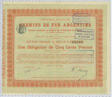 Cie Des Chemins De Fer Argentins - Chemin De Fer & Tramway