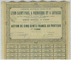 Cie Du Chemin De Fer De Lyon St Paul à Fourviere Et à Loyasse - Chemin De Fer & Tramway