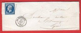 PC 879 Sur Lettre - La Clayette (Saone Et Loire) Mai 1857 - Postmark Collection (Covers)