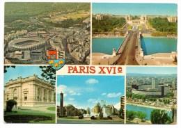 CP, 75, PARIS (XVIe), Multivues, Voyagé En 1985, Ed : GUY - Arrondissement: 16