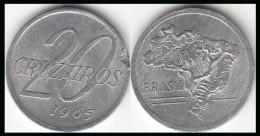 BRASILE 20 Cruzeiros 1965 KM#573 - Used - Brasile