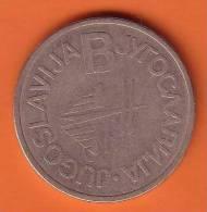 "Telephone Jeton SERIE  "" B ""  ( Yougoslavia ) * Token Ficha Spielmarke Gettone Telephones Phone Phones Telefono - Tokens & Medals"