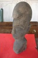 Statuette Tête De Dogon,début XXè Bon état.H:28,5 Cms - Afrikanische Kunst