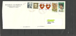 USA 2014 Cover With Several Stamps Hemingway Gehrig Marshall Etc To ESTONIA Estland Estonie 2014 - Entiers Postaux
