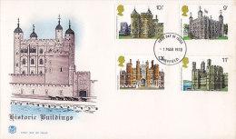 Great Britain Ersttag Brief FDC Cover 1978 Historische Bauten Historic Buildings - 1971-1980 Dezimalausgaben