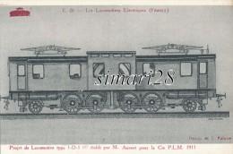 LES LOCOMOTIVES FRANCAISES (France) - N° E 26 - PROJET DE LOCOMOTIVETYPE 1D1 ETABLI PAR M. AUVERT POR La Cie P.L.M. 1911 - Eisenbahnen