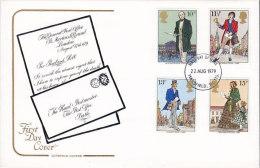 Great Britain Ersttag Brief FDC Cover 1979 Rowland Hill Anniversary Cotwold Cover Cachet - 1971-1980 Dezimalausgaben