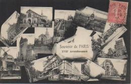 75 PARIS  XVIIIe Souvenir De Paris Du 18e Arrondissement - Arrondissement: 18