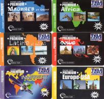 CARTES PREPAYEES  TELE CABLE SATELLITE 7,5e/15e  Latino/Asie/Maghreb/Africa/Europe-USA/Immarsat  (lot De 6)  5735  ++++ - France