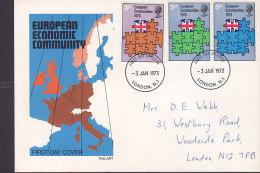 Great Britain Ersttag Brief FDC Cover 1971 European Economic Community Philart Cachet - 1971-1980 Dezimalausgaben