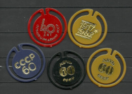 Soviet Estonia Estland Estonie 5 Abzeichen 1980-1985 - Pin's & Anstecknadeln