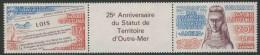 Wallis & Futuna 1986 Mi 512-51/3 Aero ** Law 1961 Bestowing Overseas Territory Status + Ornamental Tablet  Queen Amélia - Wallis En Futuna