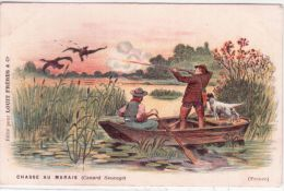 CHASSE AU MARAIS ( Canard Sauvage )  France - Ed. Chocolat LOUIT - Hunting