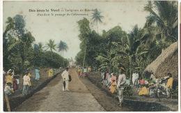 Iles Sous Le Vent Indigenes De Raiatea Attendant Le Passage Du Gouverneur Colorisée - Polinesia Francese
