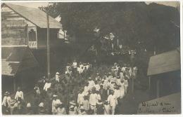Real Photo Depart D Un Contigent Tahitien Pour Guerre 1914 Makatea 1916 Vers Ermont WWI - Polinesia Francese