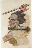 Art Card Tattoed Man Tattoo Guerrier Tatoué James Cook Written In German - Cook