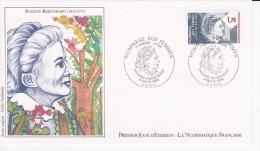 Pauline KERGOMARD, Hommage Aux Femmes, Dessin De Cécile Guillaume,  FDC 08/03/1985 - 1980-1989