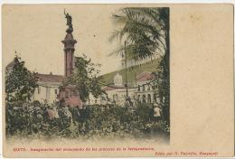 Quito    Inauguracion Del Monumento De Los Proceres De La Independencia Edicion Pazmino Guayaquil - Equateur
