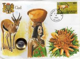 Ciad,Chad,Cover,animaux.WWF Stamp,coins,pièces De Monnaie.oryx, - Tchad (1960-...)