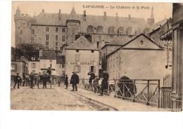 03-----LAPALISSE----le Chateau Et Le Pont--voir 2 Scans - Lapalisse