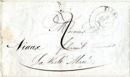 LAC Flers-de-l´Orne Pour La Ferté-Macé 1834 - Ets Niaux à Flers - Lettre Manuscrite - 1801-1848: Precursores XIX