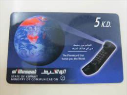 Prepaid Phonecard, 5KD,used - Kuwait