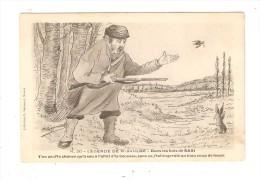 CPA : Légende De St Saulge : Dans Le Bois De Saxi : Chasseur & Lapin -  Peu Commune   :   Illustration  Guyonnet - Bourgogne