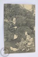 Old Japan Postcard - 2 Geisha Girls - Otros