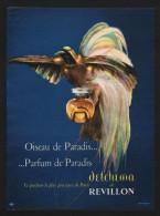 PUBLICITE 1956 PARFUM REVILLON DETCHEMA Oiseau De Paradis - Advertising