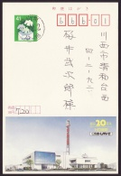 Japan Advertising Postcard, Hiroshima Home TV, Broadcast, Postally Used (jadu211) - Cartes Postales