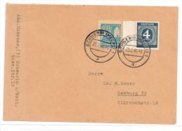 Nr.: 914 Und SBZ Nr.: 34 Auf Brief Von Schwerin Nach Hamburg - Gemeinschaftsausgaben