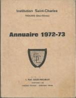 45Dq    79 Thouars Annuaire 72/73 College Saint Charles Avec Nom Des Prof. éléves Employés (voir Description) - Thouars
