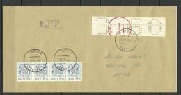 ESTLAND Estonia 1992 Tartu Dorpat Lochstreife R-Brief Nach Elva - Estonia