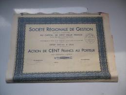 REGIONALE DE GESTION (1936) LILLE - Shareholdings