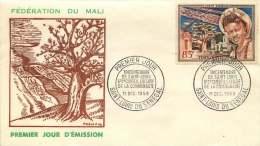 MALI  1959  Tricentenaire De Saint-Louis   Poste Aérienne-  FDC Non Adressé - Mali (1959-...)