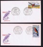 MALI  1959  Oiseaux: Aigle Et Gonolek    Poste Aérienne-  FDC Non Adressé - Mali (1959-...)
