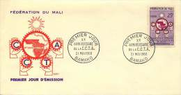 MALI  1960  10è Ann CCTA   -  FDC Non Adressé - Mali (1959-...)