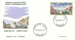 MALI  1967  Traversée Du Hoggar 1924  Poste Aérienne  -  FDC Non Adressés - Mali (1959-...)