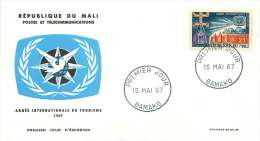 MALI  1967   Année Internationale Du Tourisme  -  FDC Non Adressés - Mali (1959-...)