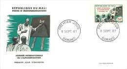 MALI  1967   Journée Internationale De L'alphabétisation    -  FDC Non Adressé - Mali (1959-...)