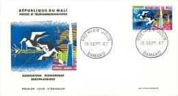 MALI  1967   Europafrique    -  FDC Non Adressé - Mali (1959-...)