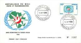 MALI  1969  Année Internationale Du Tourisme Africain     -  FDC Non Adressé - Mali (1959-...)