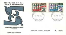 MALI  1969   Organisation Internationale Du Travail     -  FDC Non Adressé - Mali (1959-...)